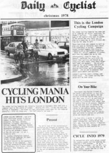 First Daily Cyclist cover, for a number of years the bi-monthly rag from LCC.