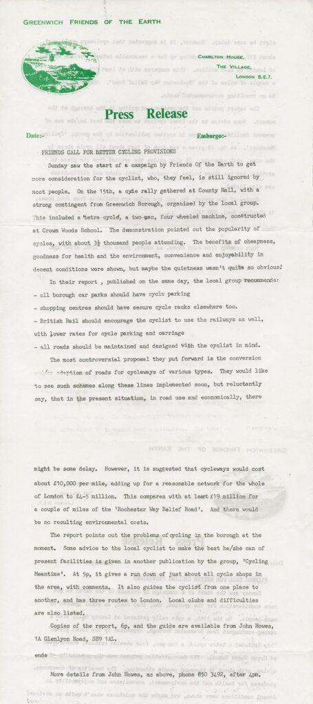 Press release 1975